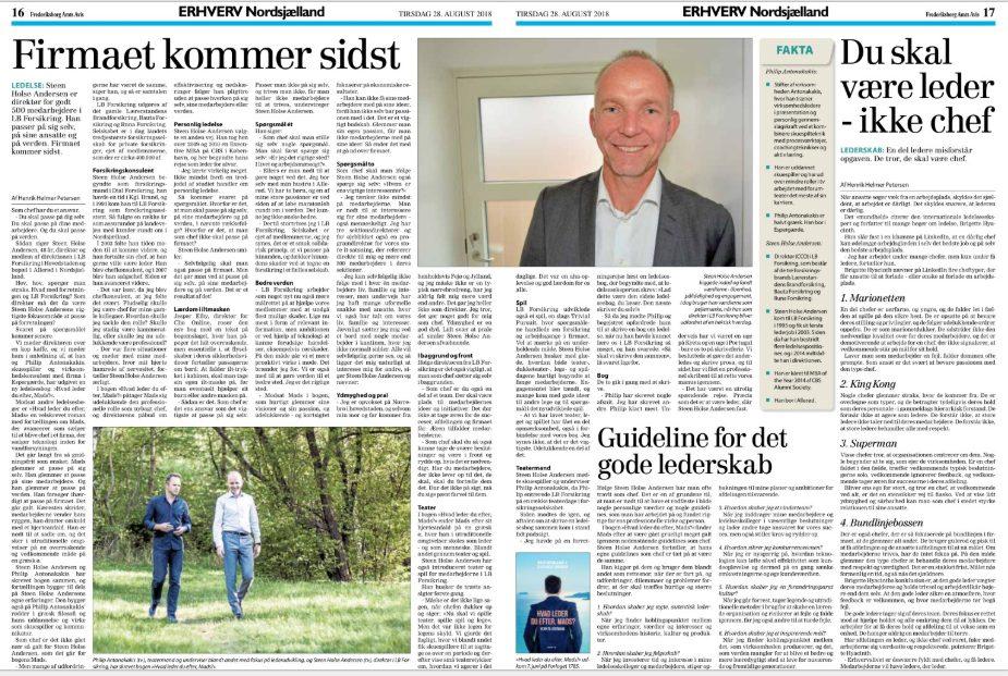 Frederiksborg Amtsavis omtale af bogen