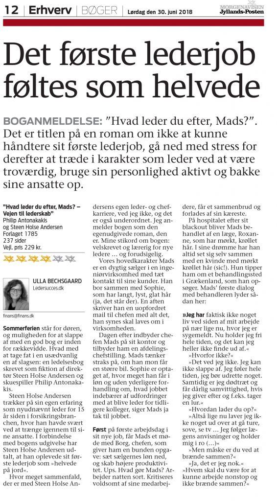 Anmeldelse i Jyllands Posten - side 1